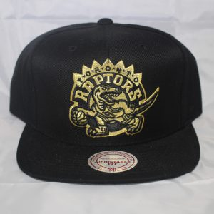 Toronto Raptors NBA Gold OVO QS Mitchell and Ness Snapback