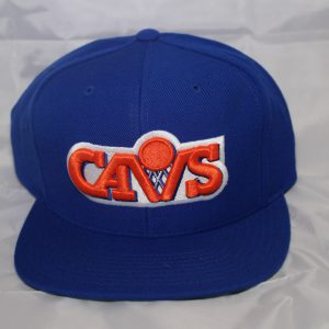 Cleveland Cavs NBA Team Wool Solid Mitchell and Ness Snapback HWC Royal