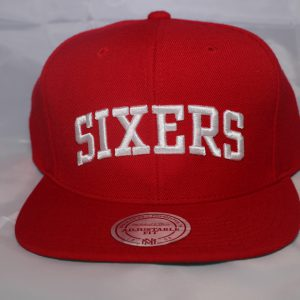 Mitchell and Ness NBA Philadelphia 76ers Team Solid Snapback Cap
