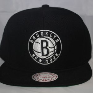 Brooklyn Nets NBA Team Solid Mitchell and Ness Snapback