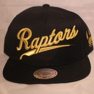 Mitchell and Ness NBA Snapback Toronto Raptors Gold Script OVO QS Black/Gold
