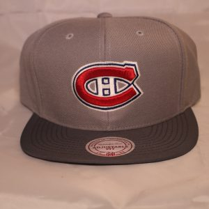Mitchell and Ness Grey Mega NHL Montreal Canadiens Snapback cap