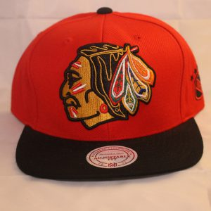 Mitchell and Ness Chicago Blackhawks NHL XL Logo Snapback Cap