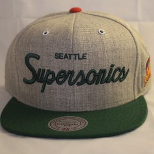 Mitchell and Ness NBA Seattle Supersonics Script SB HWC Snapback Cap