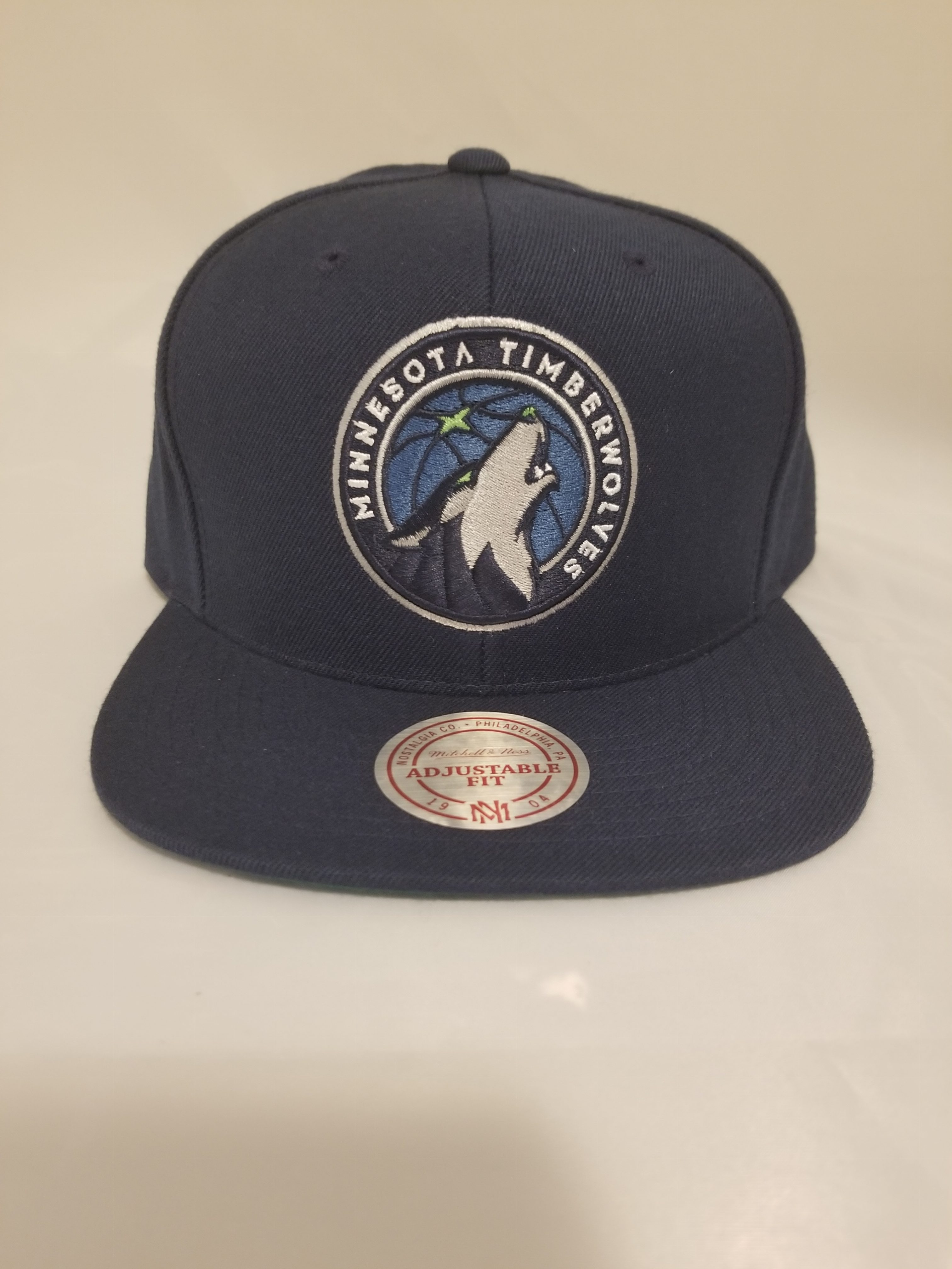 36a58a39 Mitchell and Ness Minnesota Timberwolves Wool Solid XL 2T Snapback Cap.  $44.99. prev